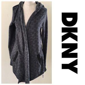 New!  DKNY fleece bed jacket sweatshirt